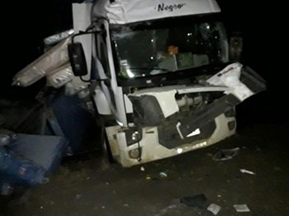 Despiste de camion en la ruta 3
