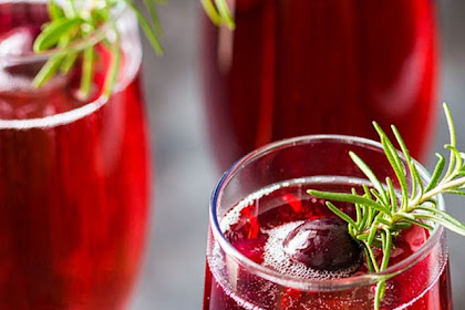 Cranberry Mimosas #christmas #drink