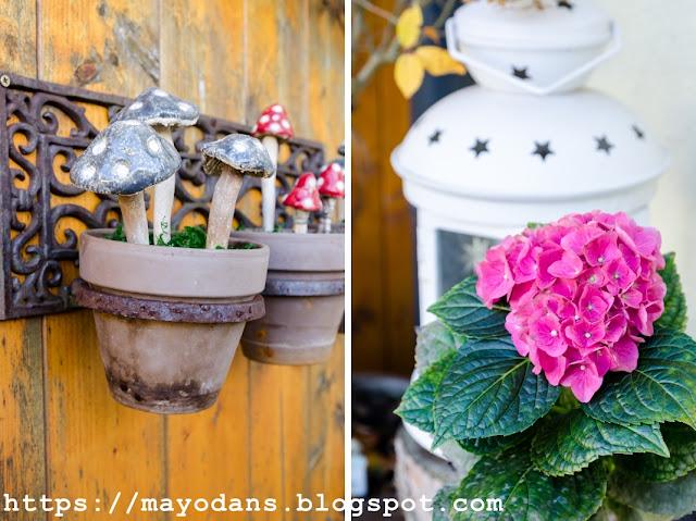 Pilze aus Keramik Hortensie
