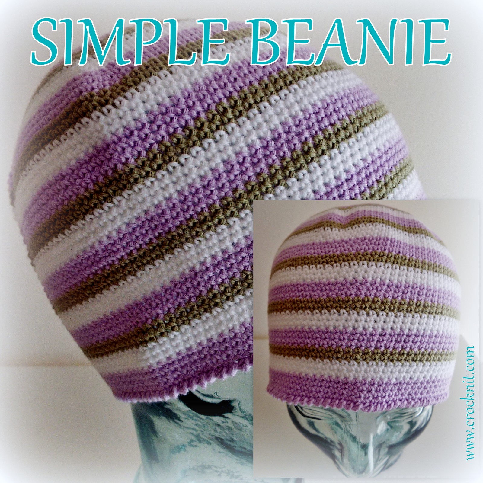 Microcknit Creations How To Crochet A Simple Beanie