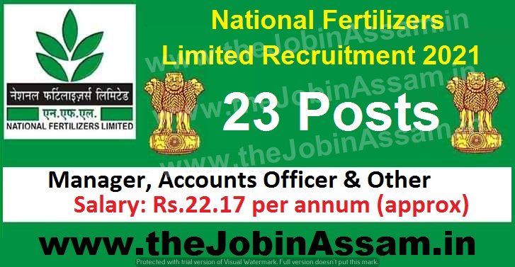 National Fertilizers Limited Recruitment 2021