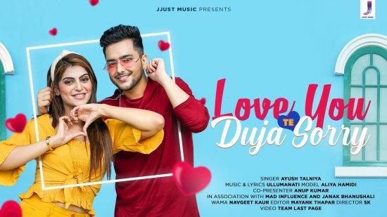 Love You Te Duja Sorry Lyrics Ayush Talniya