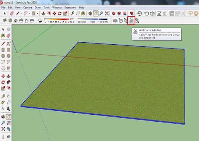 Cara Setting Rumput Realistic di Vray 3.6 Sketchup