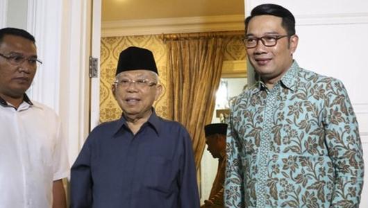 Akui Jawa Barat Jadi Medan Pertempuran, Ma'ruf Amin Minta Santri Ikut Arahan Kiai
