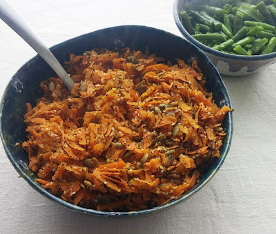 Grated Carrots Sauteed with Mixed Seeds