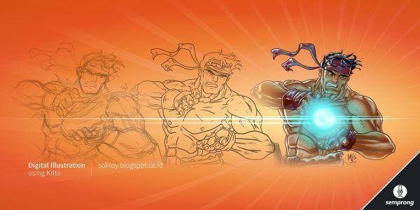 Membuat Gambar  Vector Karakter Komik  di Inkscape