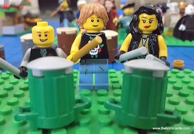 LEGO Drummers Phil Collins, Rick Allen of Def Leppard and Sheila E