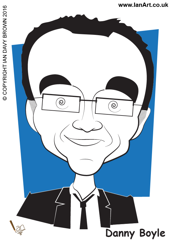 Danny Boyle Film Director 2012 London Olympics Caricature cartoon