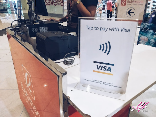 "Robinsons Department Store on Contactless Payment via VISA ""Tap to Pay"""
