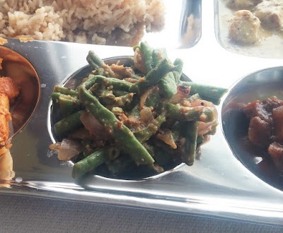 Mustardy Curried Green Beans