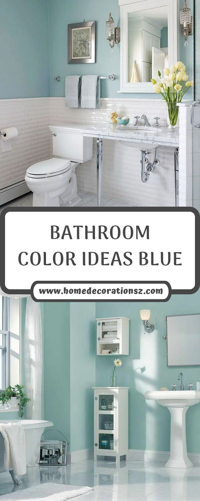 BATHROOM COLOR IDEAS BLUE