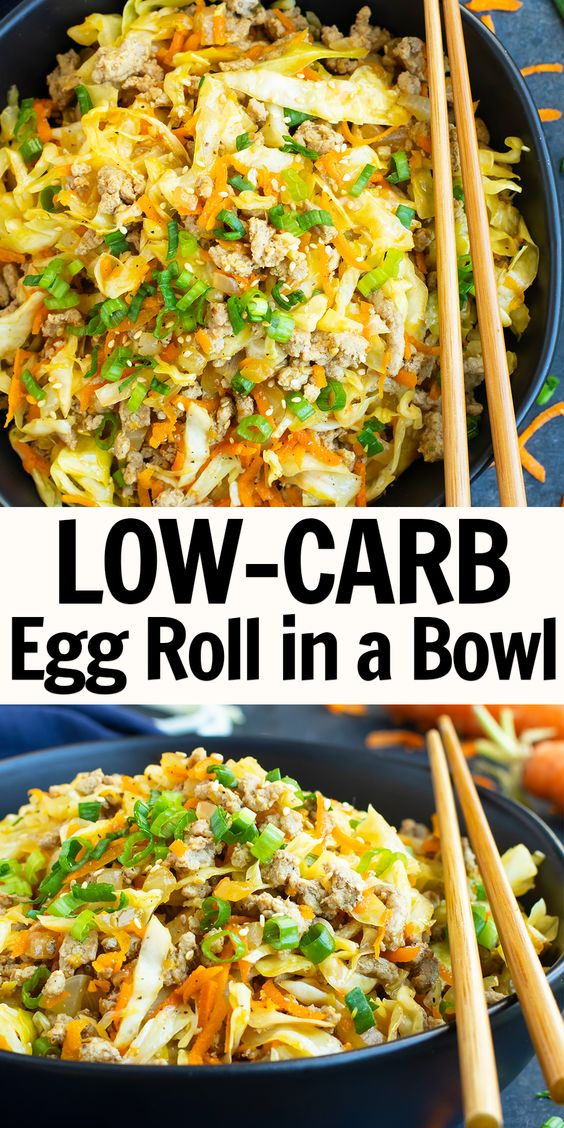 DELICIOUS EGG ROLL IN A BOWL (PALEO, KETO, HEALTHY)
