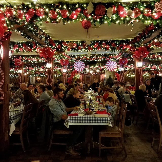 Diners inside the Angus Barn love the Holiday Season