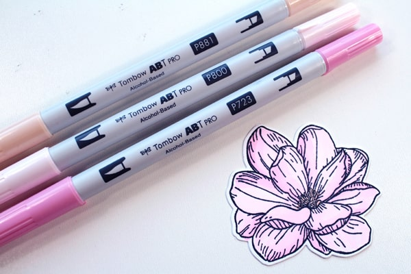 Color flower with Tombow ABT Pro Alcohol ink markers