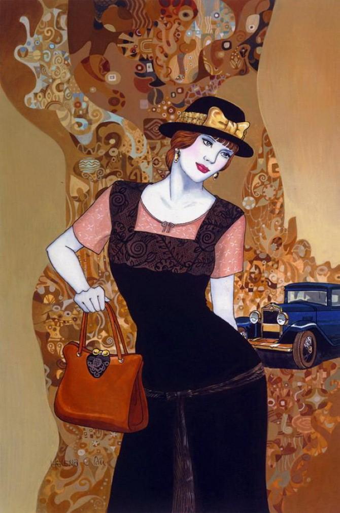 Helen Lam. Картины в стиле ар-деко 20
