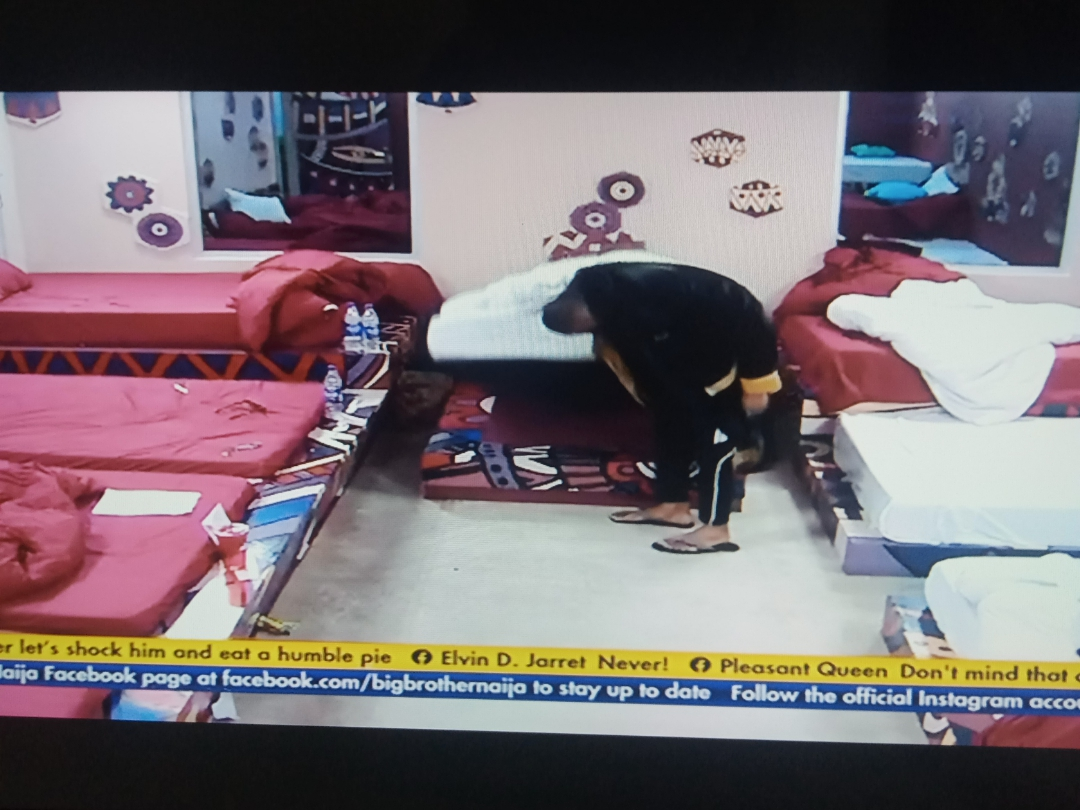 BBNaija: Pictures as Biggie order housemates to search for Nini or back their bags