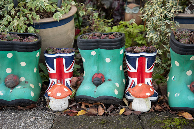 Patriotic wellies
