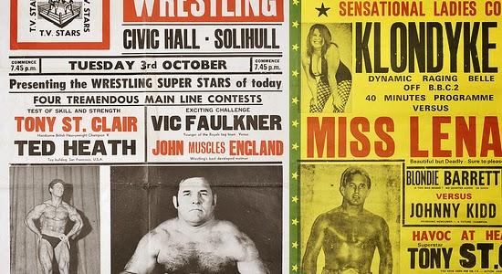 vecchia locandina sul wrestling britannico