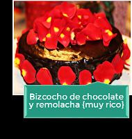 BIZCOCHO DE CHOCOLATE Y REMOLACHA