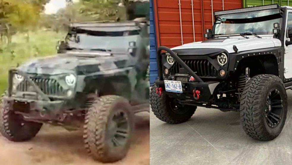 Video: Así le robaron a mano armada su Jeep en Leon; Guanajuato, ya apareció tuneado en manos del CJNG en el video donde muestran los blindados