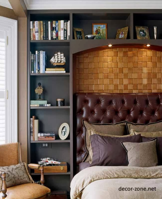 Bookcase Around Bed: Bedroom Shelving Ideas: 20 Bedroom Shelves Designs