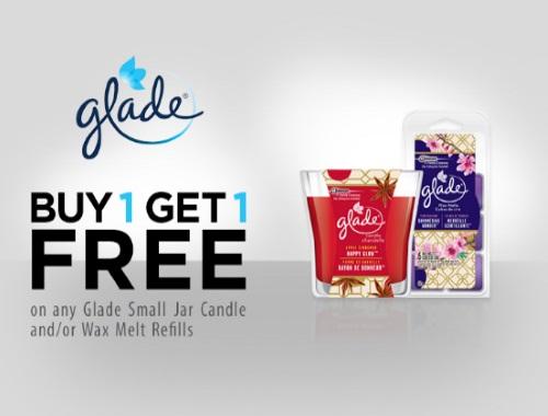 Glade BOGO Buy 1 Get 1 Free Jar Candle/Wax Melt Refills