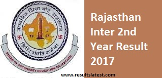 Rajasthan Inter 2nd Year Result 2017