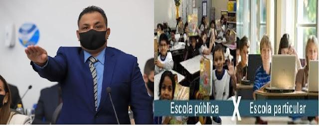 PL do vereador Nandinho (Avante) obriga políticos com mandatos no município de Patos-PB a matricularem seus filhos em escolas públicas.