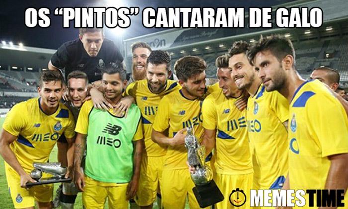 """Memes Time Porto e André Silva – Os """"Pintos"""" cantaram de galo."""