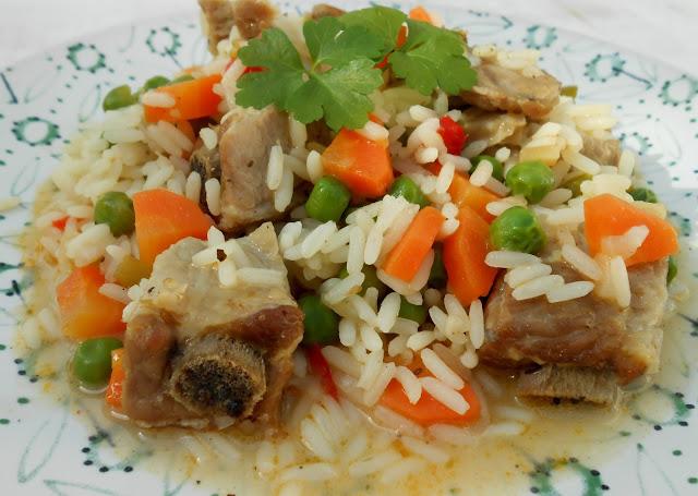 receta-de-arroz-con-costillas-de-cerdo