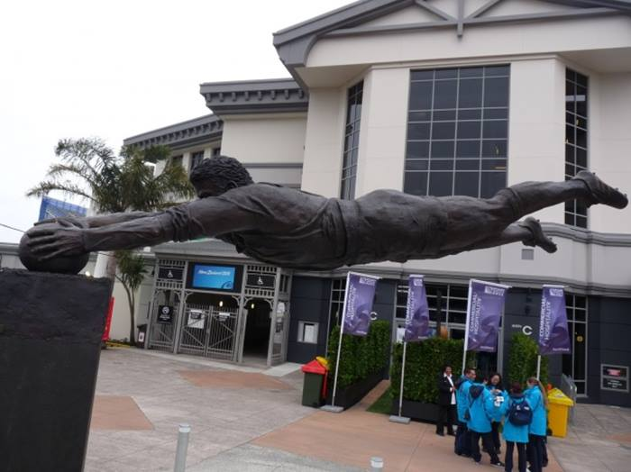 Sculpture of Soccer player, New Zealand