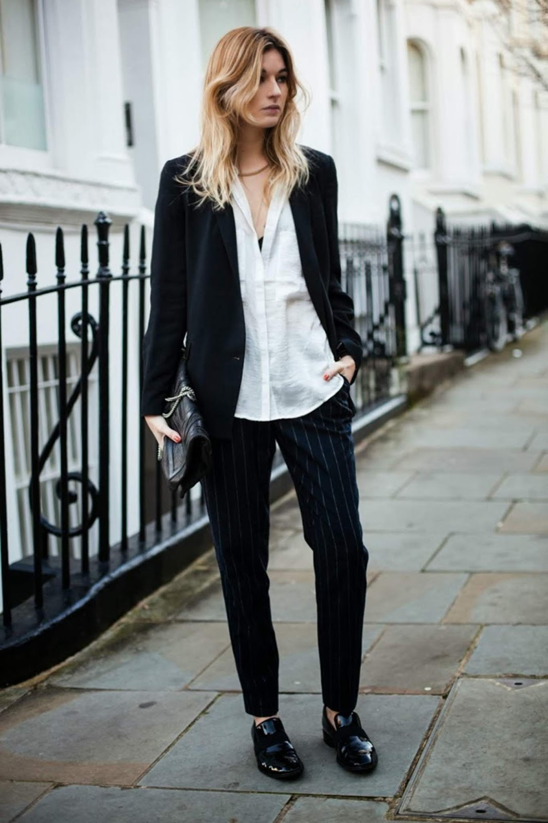 Pinstripe Pants Add an Extra Chic Touch to Your Outfit — Camille Charriere Street Style