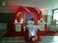 Tema de Rosas para festa de aniversário de meninas pré adolescentes, adolescentes ou adultas - mesa decorada de festa de aniversário