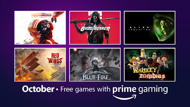 amazon prime gaming free pc game star wars squadrons alien isolation ghostrunner red wings aces of the sky wallace & gromit's grand adventure blue fire song of horror tiny robots recharged whiskey & zombies secret files 3