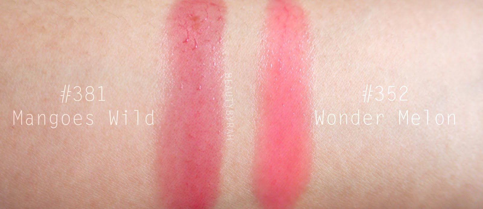 Lancôme Juicy Shakers Mangoes Wild and Wonder Melon Review and swatches