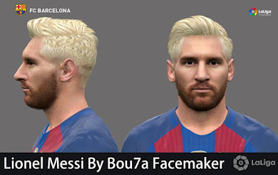 Lionel Messi new look v2 By Bou7a Facemaker