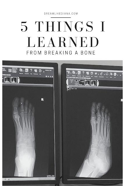 5 things i learned from breaking a bone pinterest pin