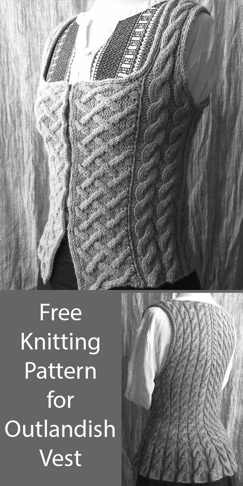 Outlandish Bodice Vest - Free Knitting Pattern