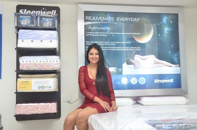 Picture of Actress Nikita Launches Sleepwell World  Showroom in Miyapur