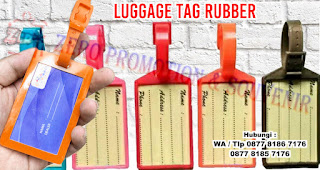 bag tag, label koper, label tas, label bagasi, name tag karet, hang tag karet, ataupun name tag koper bahan karet