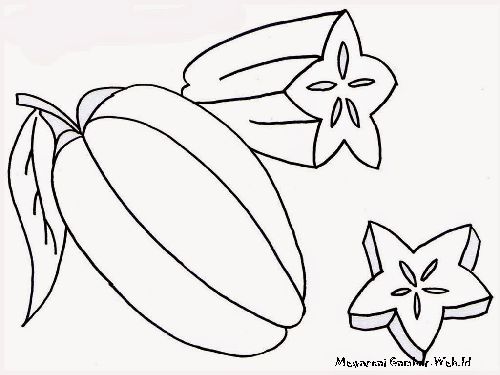 SFCFK45 Star Fruit Clipart For Kids Big