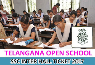 Telangana Open School SSC Inter Hall Ticket 2017, TOSS SSC Hall Ticket 2017