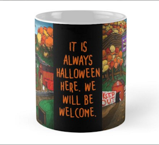 Halloween Dream Town Mug by Melasdesign