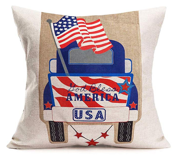 Patriotic Truck Pillow