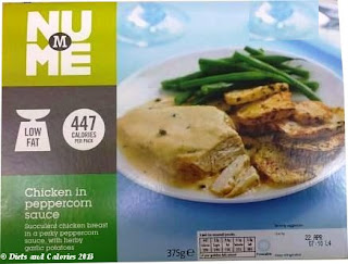Morrisons NuMe Chicken in Peppercorn Sauce Low Fat Ready Meal