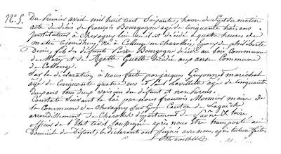 Acte de Décès de François Bourgogne, 1er avril 1860 (collection musée-copie Etat Civil de Chevagny)