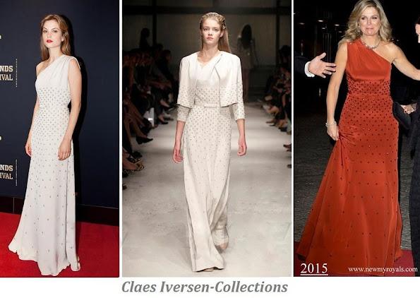 Queen Maxima wore Claes Iversen dress