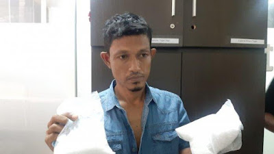 Ditangkap di Bandara Kualanamu, Warga Medan Ini Simpan 1 Kg Sabu Dalam Kotak Susu