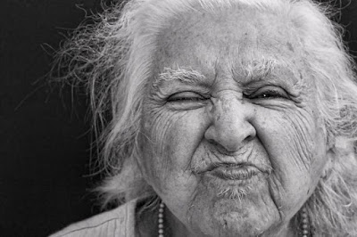Funny old woman picture