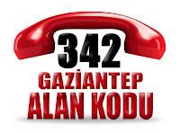 0342 Gaziantep telefon alan kodu
